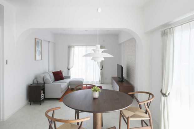 白を基調としたヨーロピアンスタイルのお部屋